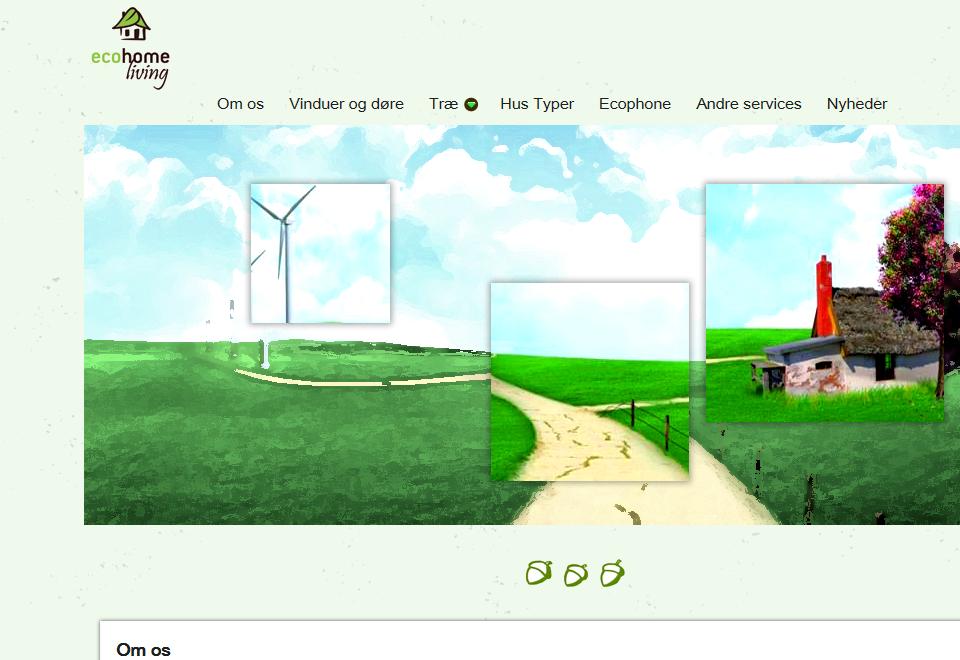 Interneto svetainių kūrimas. Ecohomeliving